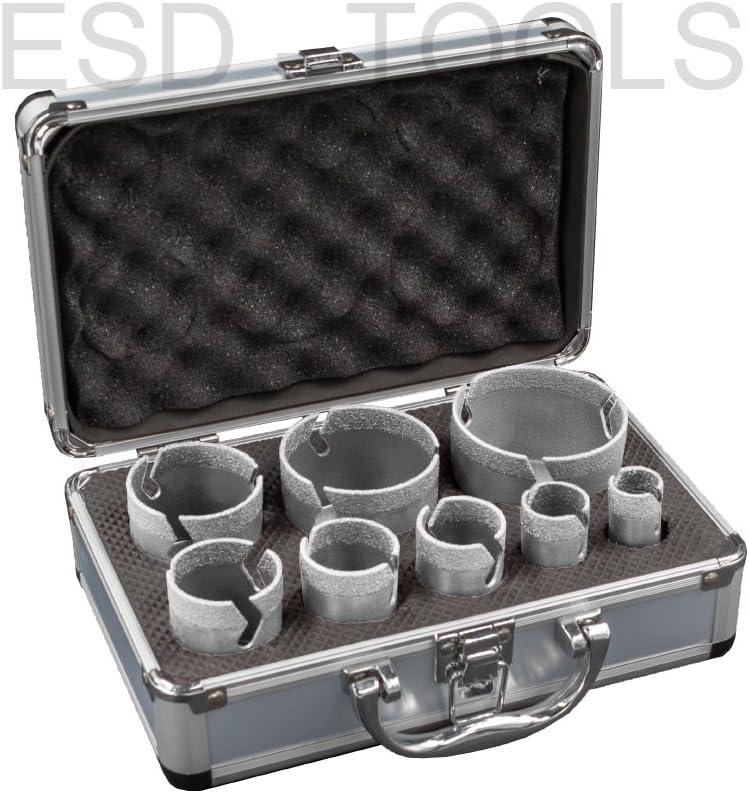 6 teilig Profi Fliesenbohrkronen Set Vakuum Fliesenbohrer Set Diamantbohrer
