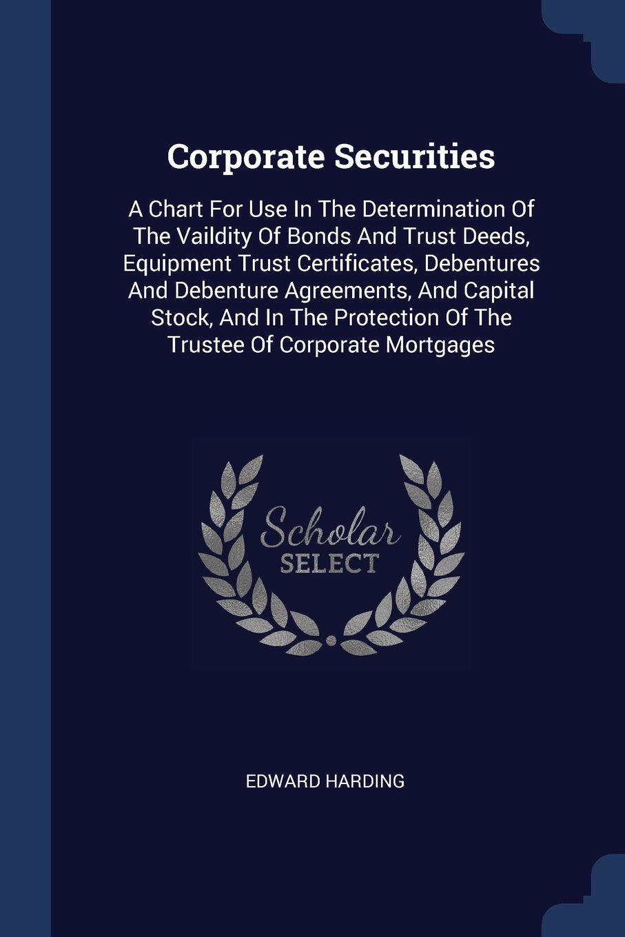 Corporate Securities A Chart For Use In The Determination Of The