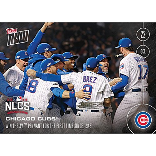 MLB Chicago Cubs First NL Pennant Since 1945 #615A 2016 Topps NOW Trading Card (Chicago 1945 Cubs)