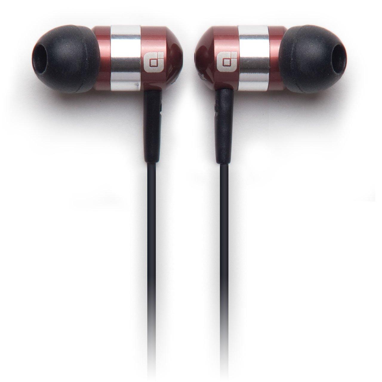 Earjax BZ-EMY64-0611M Moxy Series Headphones with Inline Mic, Brown Silver
