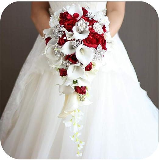Amazon Com Unique Shop Waterfall Red Wedding Flowers Bridal