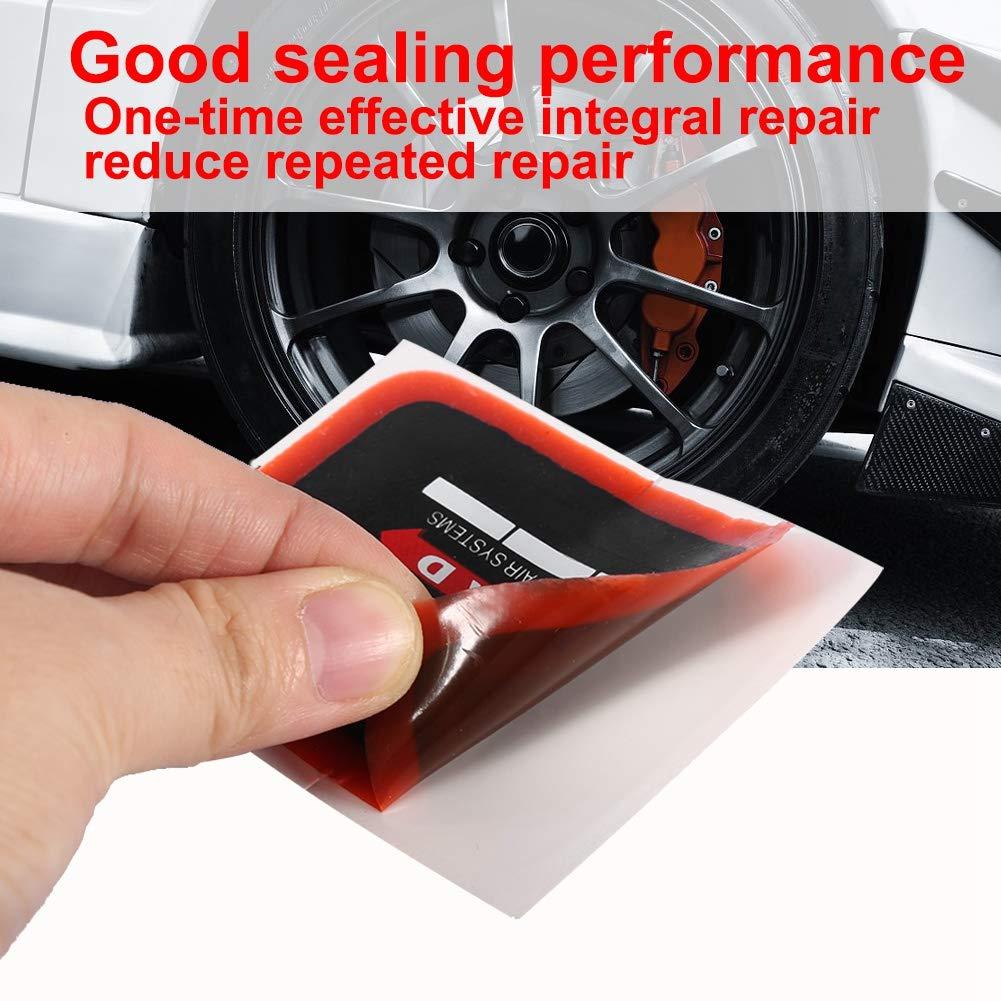 Qiilu Auto e Moto Attrezzi e kit per riparazione pneumatici 75mm per auto da 20 pezzi Patch di riparazione radiale per pneumatici per pneumatici radiali da 55