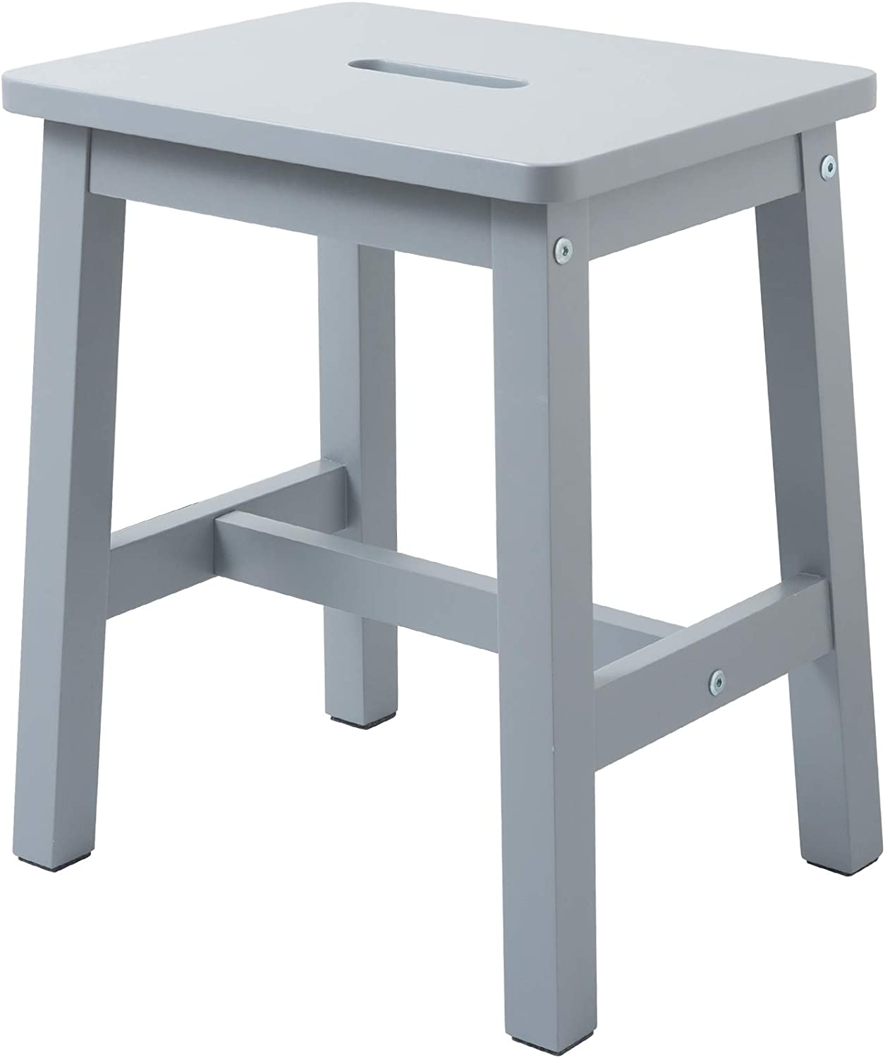 """HOUCHICS Wooden Solid Stool Counter Height Chairs,Modern Gray Barstool for Indoor Furniture Kitchen Dining Pub and Bistro(17"""" Gray)"""