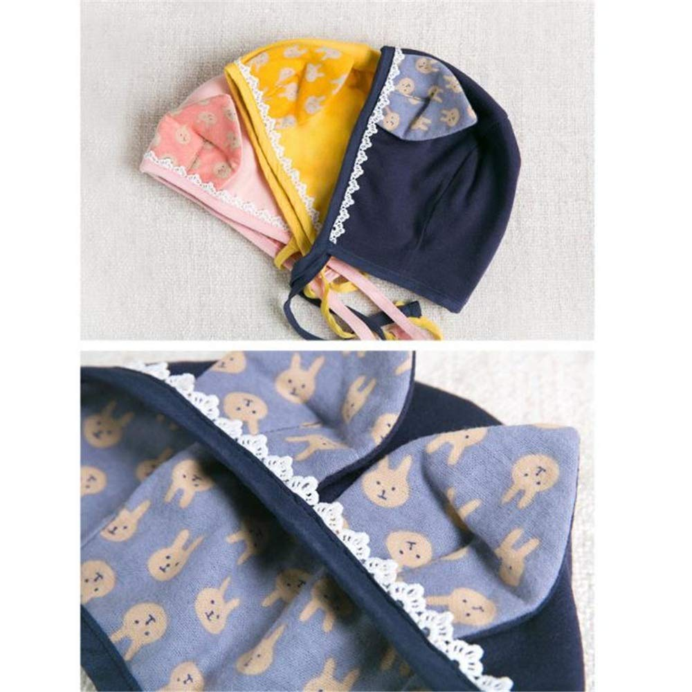 Dig dog bone Baby BoysSun Protection Swim Hat Autumn Newborn Baby Hat Lace Earmuffs Cartoon Cotton Hat