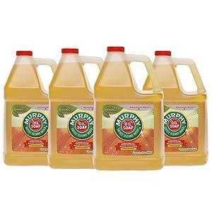 Murphy Oil Soap 01103CT Cleaner, Murphy Oil Liquid, 1 Gal Bottle (Case of 4)