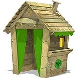 FATMOOSE Casa de juegos PandaPark Pro XXL parque jardín parque infantil de madera con chimenea, ventana y…