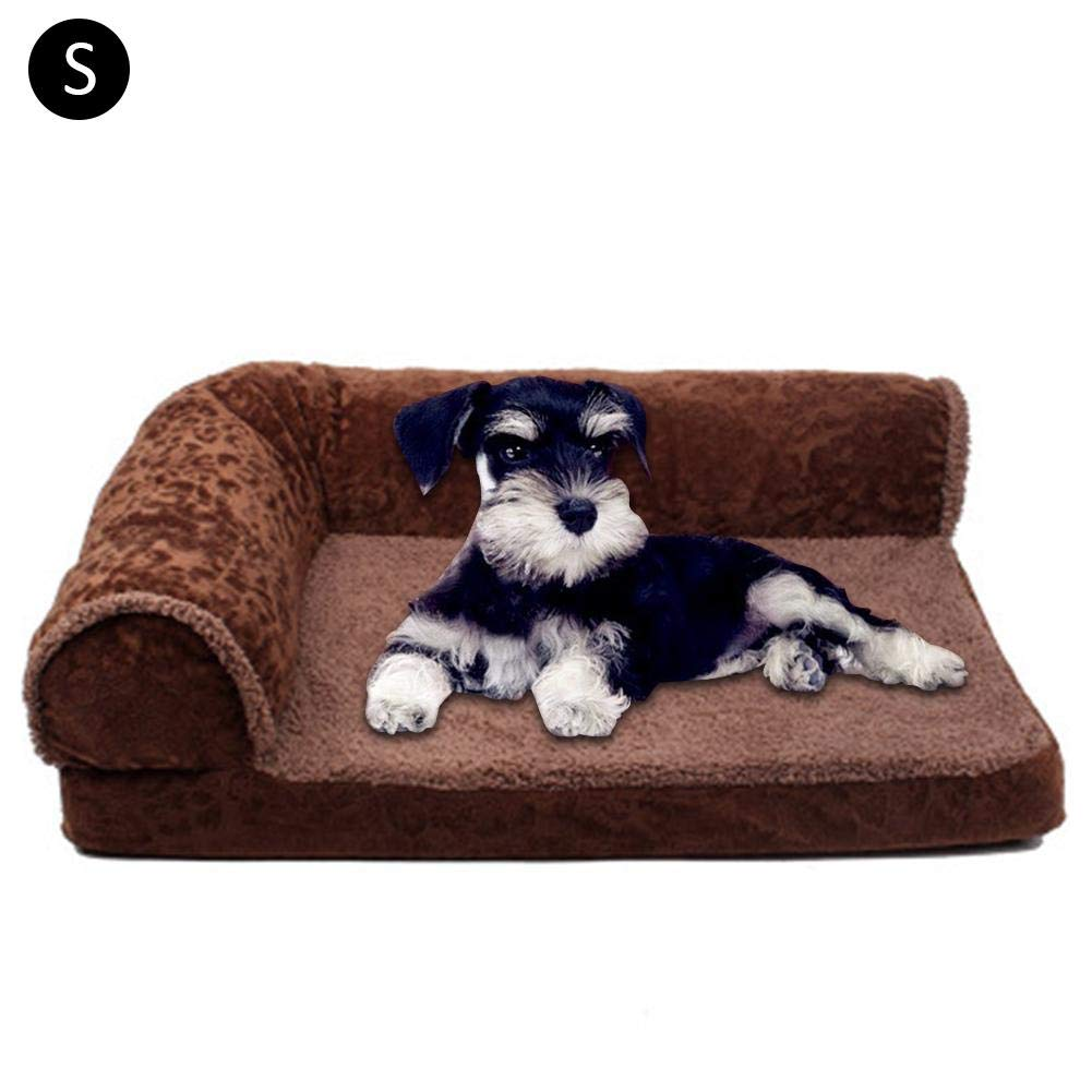 Dark Coffee Small Dark Coffee Small Pet Dog Bed   Sofa-Style Couch Pet Bed for Dogs & Cats Styles