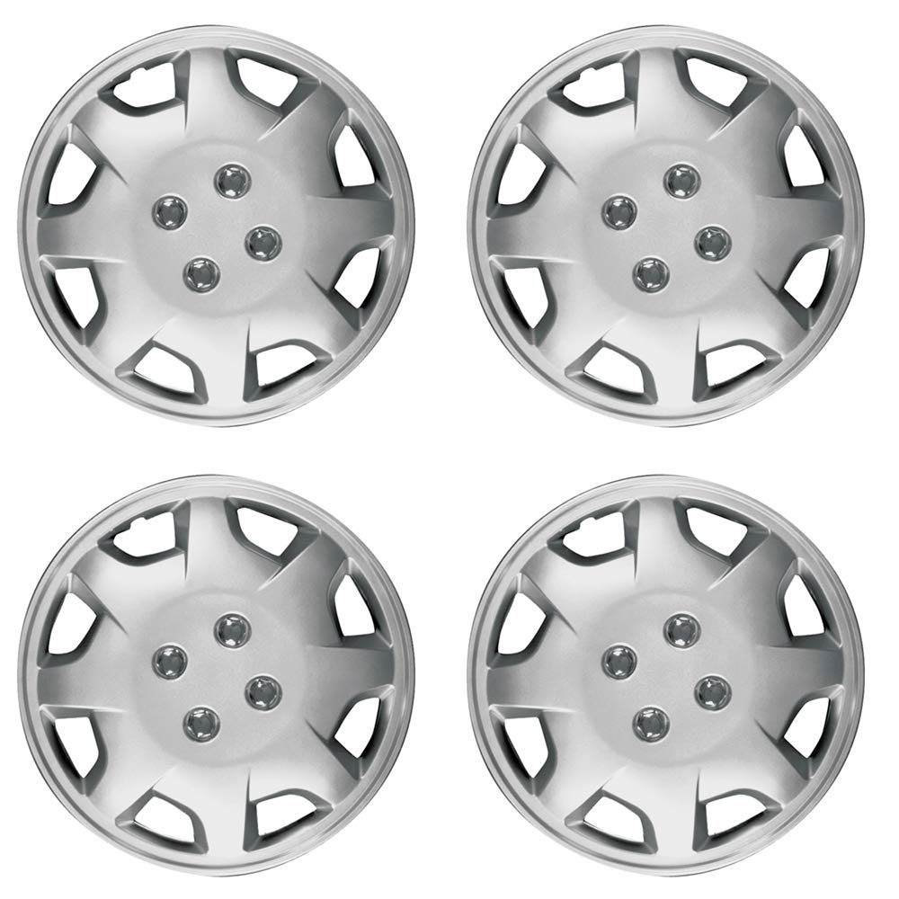 Amazon.com: Hub-Caps for Select Honda Accord (Pack of 4) 15 Inch Silver Wheel Covers: Automotive