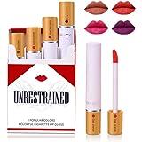 Matte Cigarette Lipstick Pack Set, 4 Colors Red Moisturizer Smooth Lip Stick, Long Lasting Waterproof Liquid Lipstick…