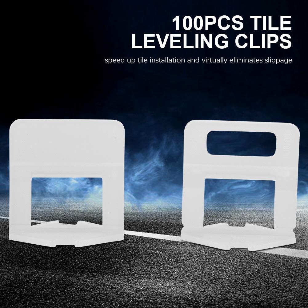100 unids//set Pl/ástico Desechable Piso de la Pared Azulejo de Cer/ámica Clips de Nivelaci/ón Espaciadores Herramienta de Mosaico 3.0mm