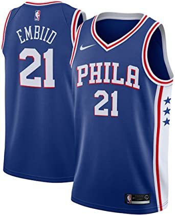 7c2de86f1 Amazon.com  Joel Embiid Philadelphia 76ers Nike Swingman Jersey Blue - Icon  Edition  Clothing