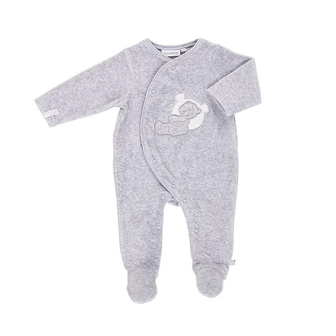 Noukies Z739134, Pelele para Dormir Unisex bebé, (Gris), 0-3