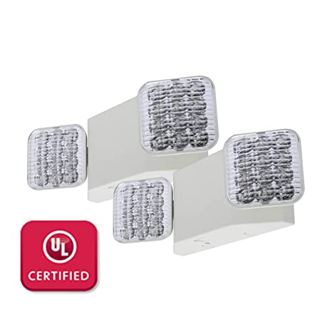 lfi lights 2 pack ul certified hardwired led emergency light