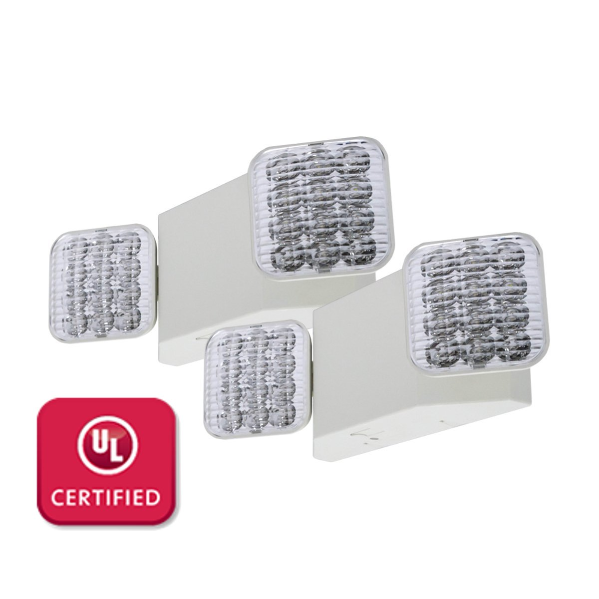 Best Rated In Commercial Lighted Exit Signs Helpful Customer Emergency Lighting Wiring Diagram Besides Car Electrical Lfi Lights 2 Pack Ul Certified Hardwired Led Light Standard Elw2x2