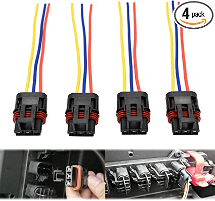 4 Pulse Power Plug Pigtail Connector for 2018 Polaris Ranger XP1000 /& RS1 General Bus Bar Power Harness Pigtail Connector