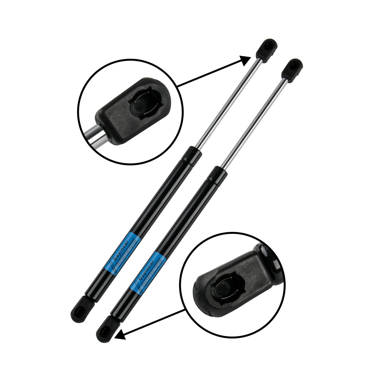 Qty (2) 6489 Front Hood Gas Lift Supports Struts Shocks Dampers for 2011 2012 2013 Hyundai Sonata SG367017 81161-3Q000 (Excluding Hybrid) Dayincar Auto Parts