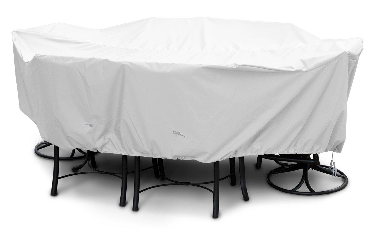 KoverRoosカバーをセット14267 Weathermax中高バックの食事、白 - 92 L×80幅x 37 Hインチ B007OSJM96