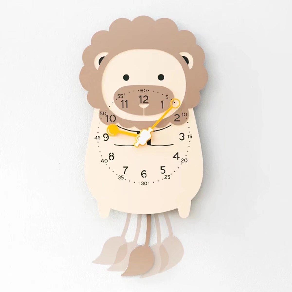 子供部屋用 動物 フラワ クロック おしゃれ デザイナーズ掛け時計 可愛い かわいい 静音 掛時計 壁掛け EBODONG B07CW8269Q タイプ5 タイプ5