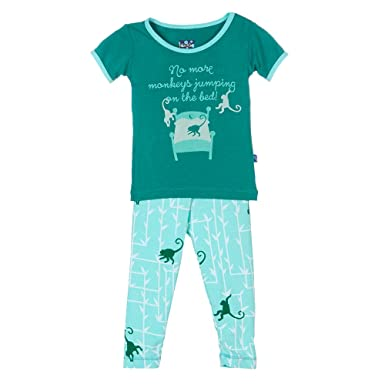 7f0ac336f Amazon.com  Kickee Pants Baby Boys  Print Short Sleeve Pajama Set ...