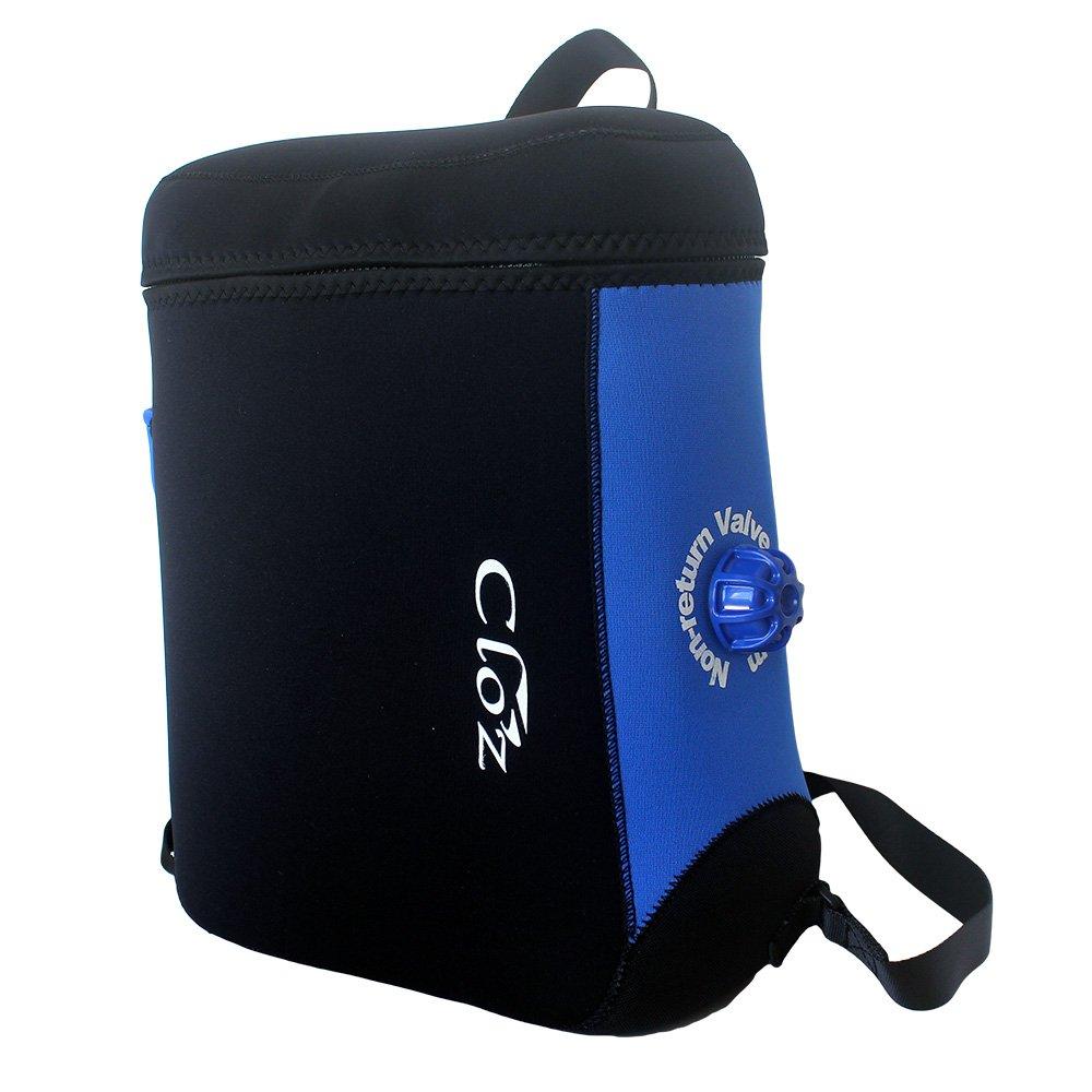 CLO'Z クロッツ 完全防水リュック 16L B077P1K15W ブルー(WP-01-BL)