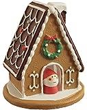 デコレ(DECOLE) お菓子の家 ミニサンタ付き ブラウン φ66×h70mm concombre ZXS-92174