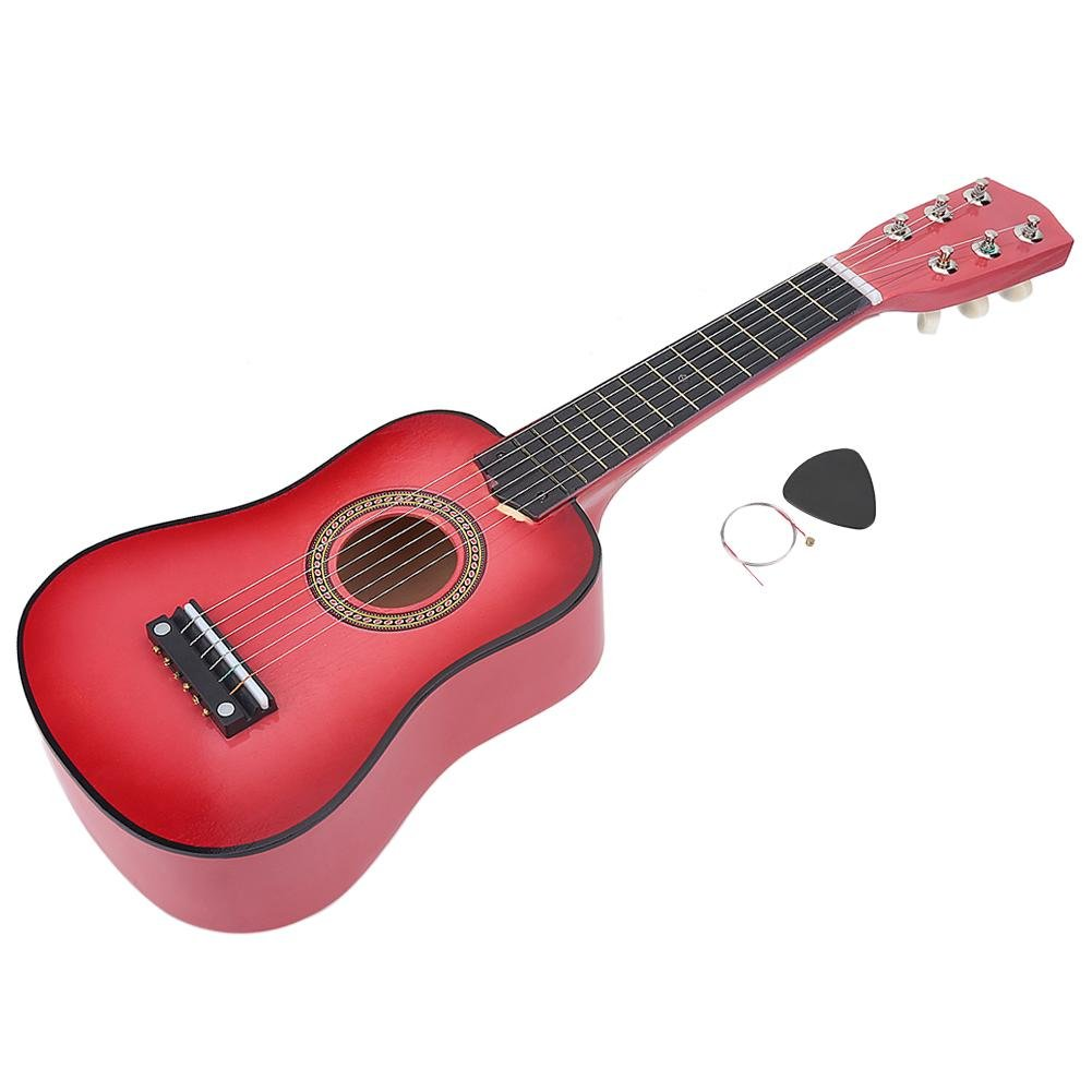 21inch Guitar, Guitar Stringed Instrument with one Pick and a String, Music Educational Toy Gift for Kids Children(Pink) Dilwe Dilwe8ubaqi504z-01