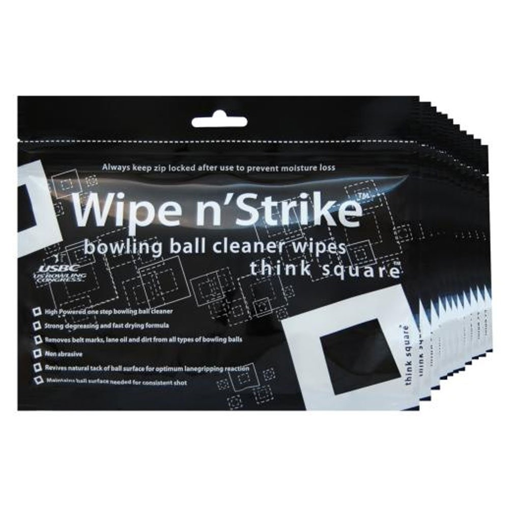 Dr. Wipe Cleaner Wipes Bowling Ball Cleaner Wipes Set of 6