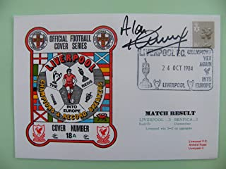 Sportagraphs ALAN KENNEDY SIGNED AUTOGRAPH FIRST DAY COVER FDC LIVERPOOL V BENFICA 84/85 COA