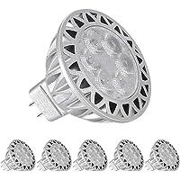 7W MR16 Bombillas LED 12V, LEDGLE GU5.3 Socket LED Spot Light, 60W Luz Bombilla…