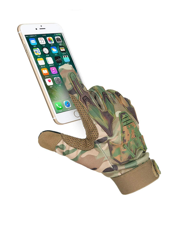 WYSTAO Armee-Fan k/ämpfen volle Finger Sporthandschuhe Outdoor-Rutschfeste Verschlei/ßtraining Reiten Bergsteigen atmungsaktiv Fr/ühling und Sommer Tarnhandschuhe