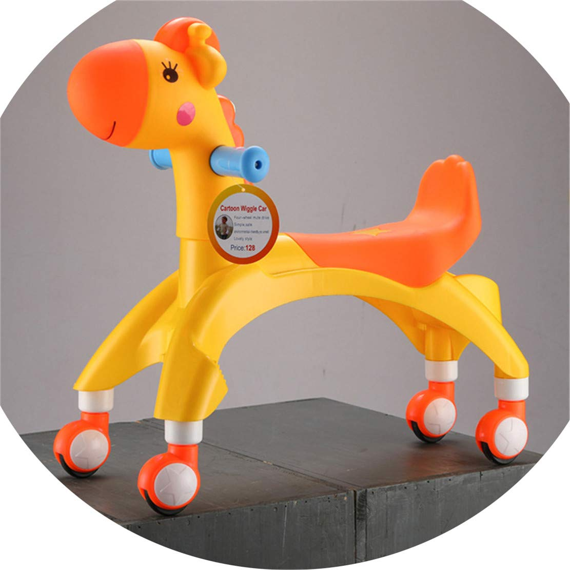 WEIGZ Kids Sneak car Twist car Toddler high Mute Belt Music yo-Yo car,Yellow
