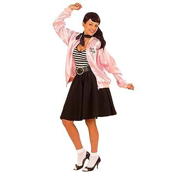 da69a35ddcd0e1 50er 60er Jahre Jacke Grease Jacket pink M/L 38 bis 44 Grease Jacke Rock
