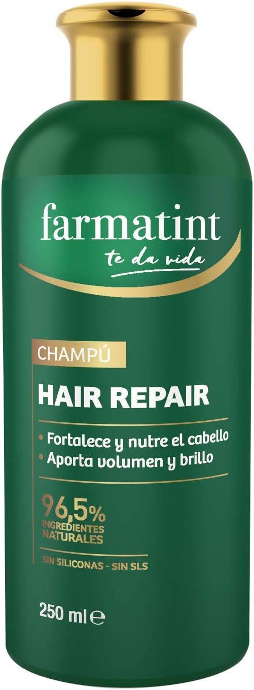 Farmatint Champú, 96.5% ingredientes naturales, fortalece y nutre el cabello, sin siliconas, sin SLS - 250 ml