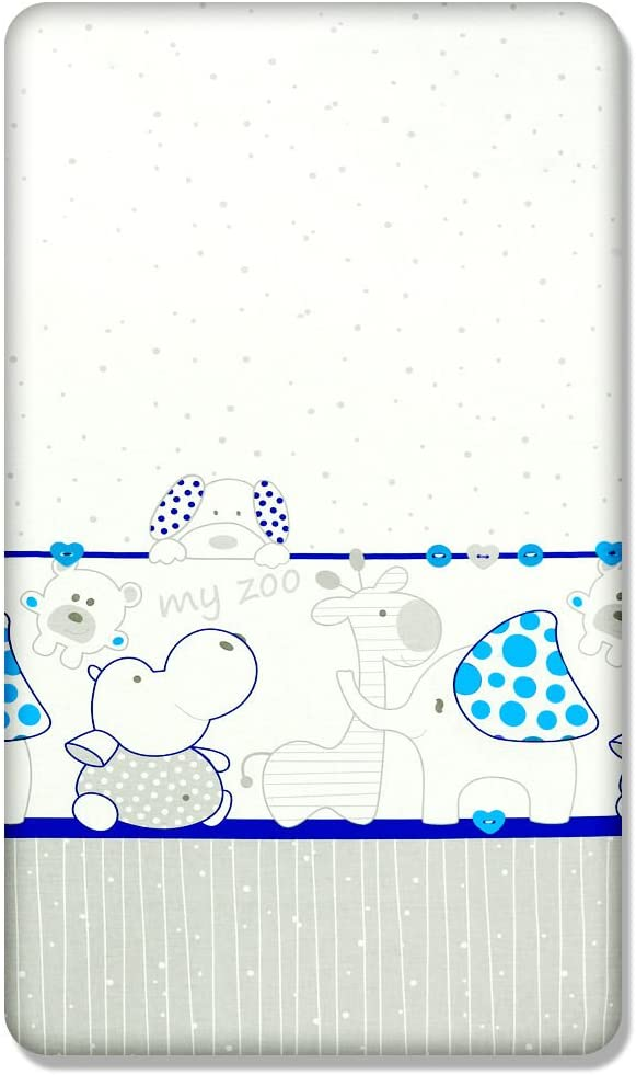 Cars 100/% COTTON FITTED SHEET WITH PRINTED DESIGN FOR BABY COT BED 140x70CM