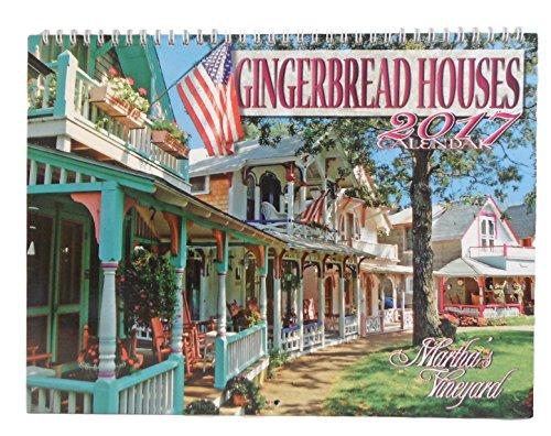 Cape Cod Wall Calendar - Monthly 2017 (Martha's Vinyard Gingerbread House)