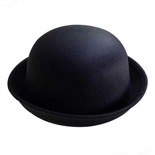 8588d1b8ad7 YAOSEN Classic Wool Bowler Hat Soild Color Derby Hat for Infants and  Toddlers (Black)