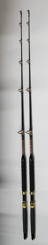 Xcaliber 海洋用ボートロッド 2個セット インショアシリーズ 6フィート 15~30ポンド レッドとゴールド   B07LB6KG9N