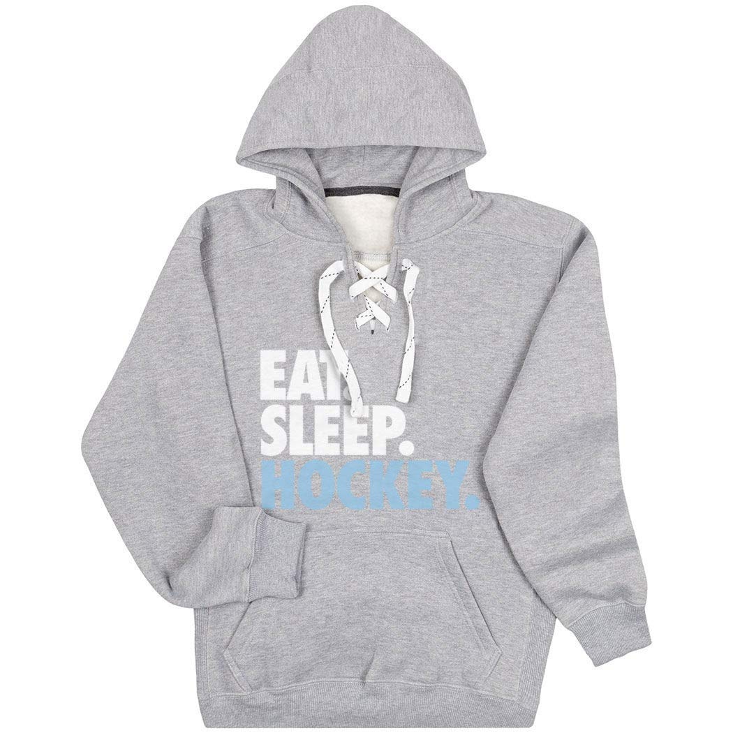 Hockey Sport Lace Sweatshirt | Eat. Sleep. Hockey. | Multiple...