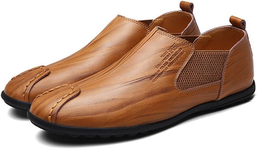 Sandales homme à enfiler noir marron clair cuir daim
