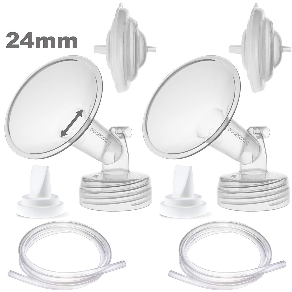 Nenesupply Compatible 21mm Flange and Duckbill Valves for Spectra S1 Spectra S2 Breastpump Not Original Spectra Duckbill Valve Not Original Spectra Pump Parts Replace Spectra S2 Accessories and Flange
