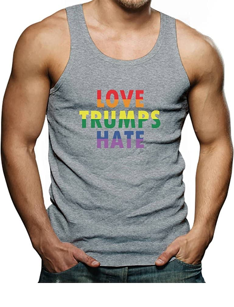 Love Trumps Hate Gay /& Lesbian Pride Anti Trump Singlet