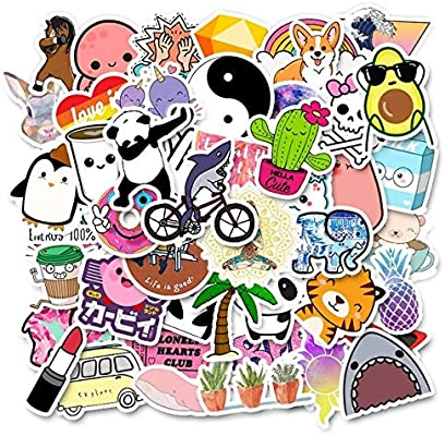 50Pcs Sticker Girl Cool Laptop Anime Cartoon Sticker Pack Scooter Decal Christmas Kids Toy Etiqueta Impermeable-A: Amazon.es: Coche y moto