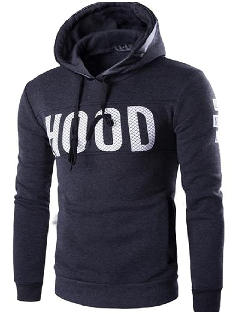 Tootless-Men Thick Warm Hooded Hoodies Plus Size Pullover Coat Tees