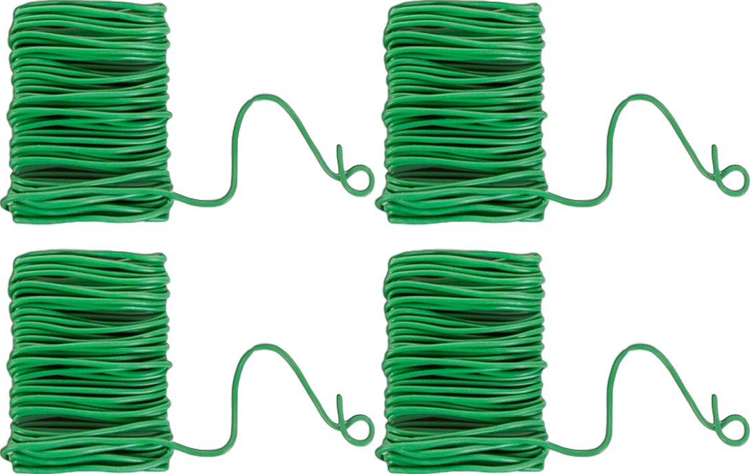 Green Garden Flexible Tie, 19.7 Ft. Rubber Coated Flexible Tie (4)