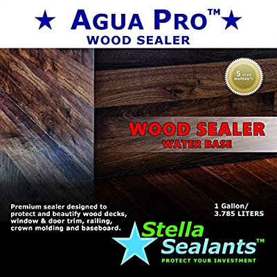 Agua Pro Wood Sealer by Stella Sealants - Protects and Beautify Wood