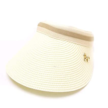 7eaee00252853 Amazon.com: NEARTIME Baseball Sunshade Hat, Women Embroidered Flower Denim  Cap Bow Hollow Straw Hat Summer Visor Beach Cap: Sports & Outdoors