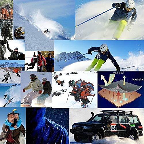 87597d9c140 XinDao Mens Plus Size Winter Fleece Windproof Waterproof Ski Coat Mountain  Jacket with Detachable Hood Blue