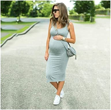 Sexy Maternity Dresses For Photo Shoot Pregnant Dress For Pregnant Women Summer Plus Size Dress Gray L At Amazon Women S Clothing Store