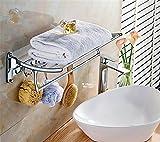 Stainless steel towel rack, bath towel rack, bathroom hardware hanger, bathroom towel rack can be folded,60cm4?