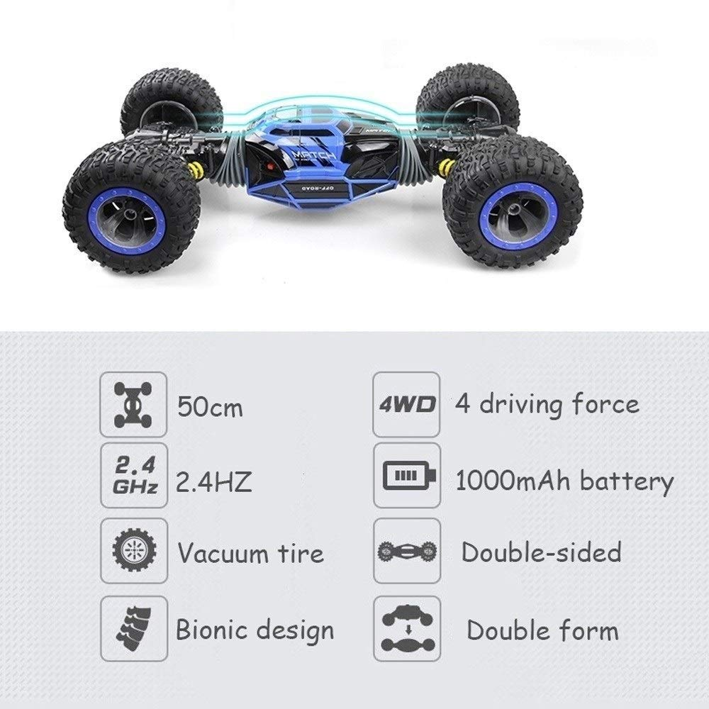 Desert Cars Off Road Buggy Toy High Speed Climbing RC Car Kids Children Toys Remote Controlled Car Vehicle Red Blue Large Remote Control Cars PETRLOY RC Car Radio Control 2.4GHz 4WD 1:8 1:16 Twist